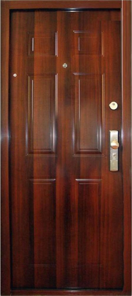 Bezpečnostné dvere – HI SEC KLASIK Mahagon