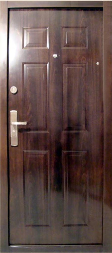 Bezpečnostné dvere – HI SEC KLASIK Tmavý orech