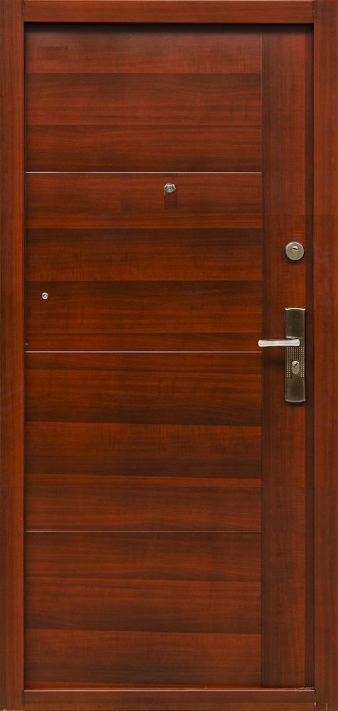 Bezpečnostné dvere – HI SEC TREND Mahagon matný