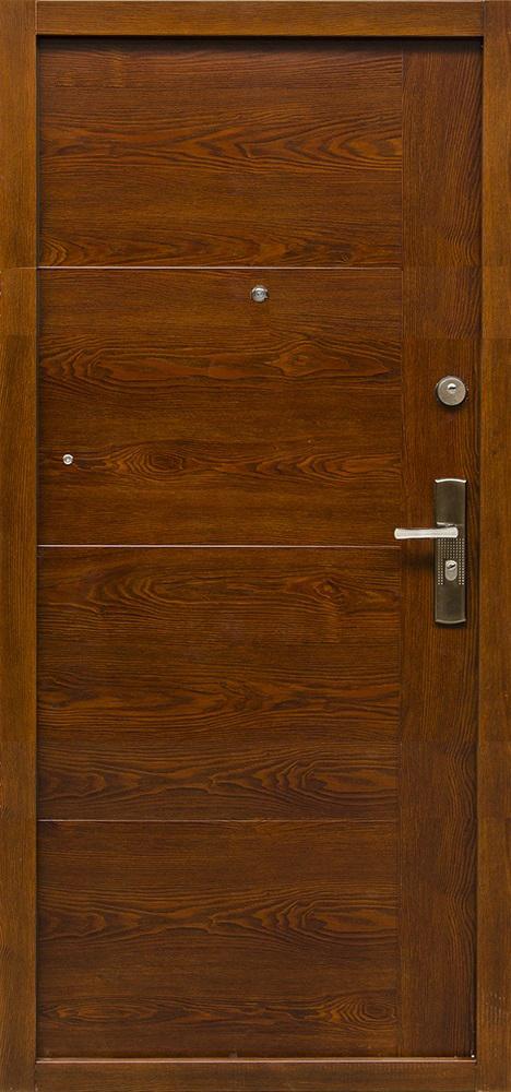 Bezpečnostné dvere – HI SEC TREND Zlatý dub matný